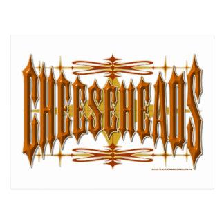 Cheeseheads Metall Postkarte