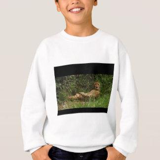 Cheetah am Erholungs-Porträt Sweatshirt