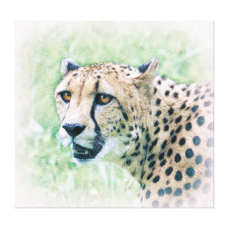 Cheetah-Porträt-Tier-Kunst-Leinwand Leinwanddruck
