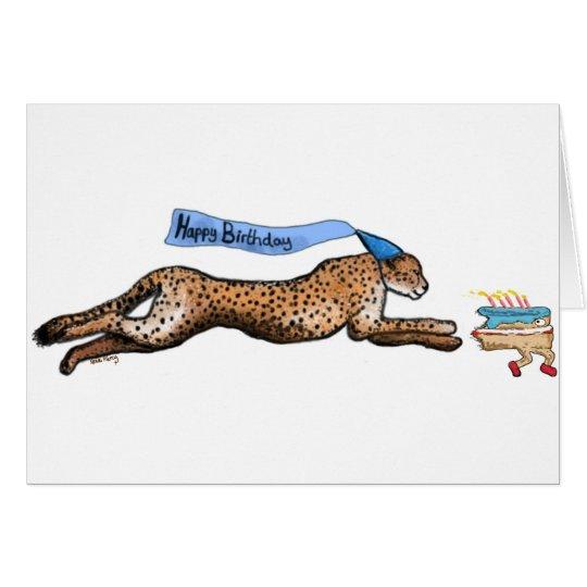 Cheetah-und Grußkarte