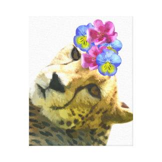 Cheetahleopard-Dschungel-TierKinderzimmer scherzt Leinwanddruck