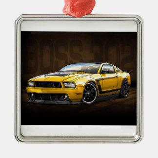 Chef 302 des Gelb-2012 Quadratisches Silberfarbenes Ornament