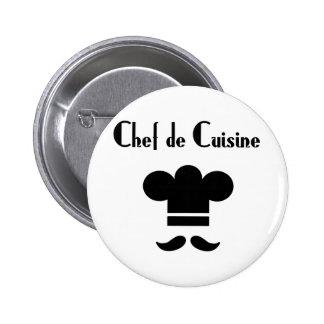 Chef de Cuisine Runder Button 5,7 Cm
