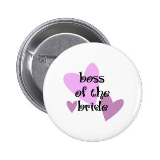 Chef der Braut Runder Button 5,7 Cm
