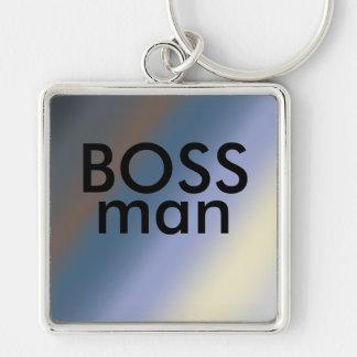 CHEF-Mann-Schlüsselring Silber/stehlen blaue Schlüsselanhänger