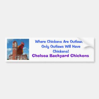 Chelsea-Hinterhof-Hühner Autoaufkleber