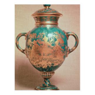 Chelsea-Vase und -deckel mit Vergoldung Postkarte