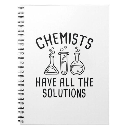 Chemiker haben alle Lösungen Notizblock