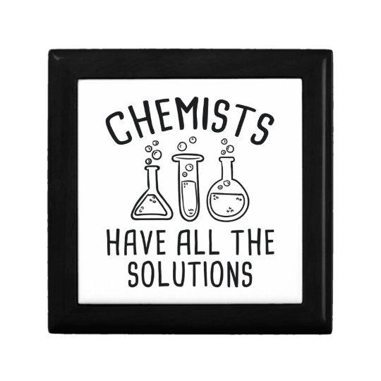 Chemiker haben alle Lösungen Schmuckschachtel