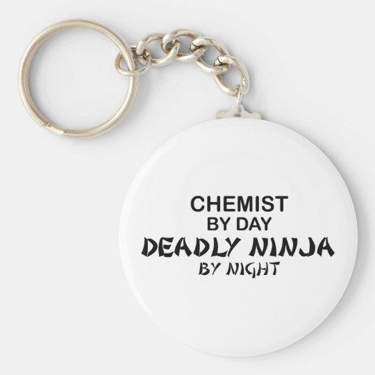 Chemiker tödliches Ninja bis zum Nacht Standard Runder Schlüsselanhänger