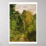 Chemin boisé, 1865 (huile sur la toile) affiches