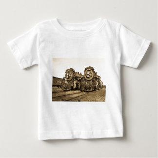 Chemin de fer vintage de locomotives de moteurs t-shirt pour bébé