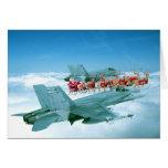 Cheminement du père noël par l'Armée de l'Air Cartes De Vœux
