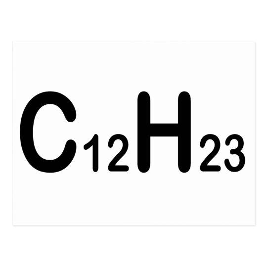 Chemische Formel Des Dieselbrennstoffs Postkarte