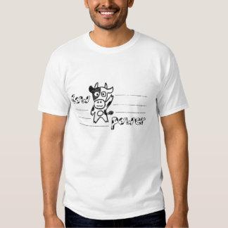 Chemise de cru de puissance de vache tee shirt