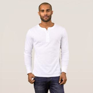 Chemise de douille de Henley de la toile des T-shirt