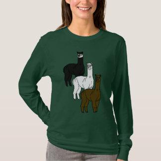 Chemise de douille de roche d'alpaga longue t-shirt