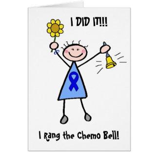 Chemo Bell - Darmkrebs-Frau Grußkarte