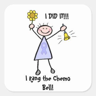 Chemo Bell - Frauen-General Cancer Quadratischer Aufkleber