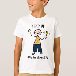 Chemo Bell - Kindheits-Krebs-Goldband T-Shirt