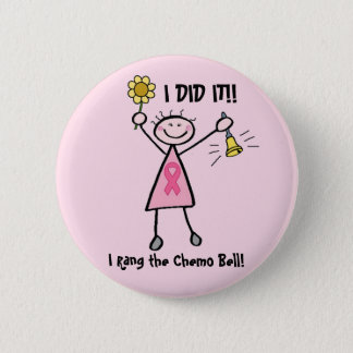 Chemo Bell Rosa-Band-Knopf Runder Button 5,7 Cm