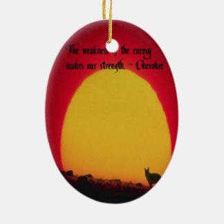 Cherokee Sprichwort Ovales Keramik Ornament