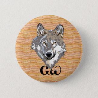 Cherokee Wolf-Liebhaber-Knopf Runder Button 5,7 Cm