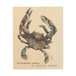 Chesapeake-blaue Krabbe Holzleinwände