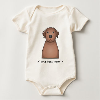 Chesapeake-Bucht-Retriever-Cartoon Baby Strampler