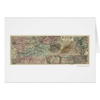 Chesapeake u. Ohio-Eisenbahn-Karte 1873 Karte
