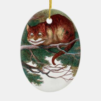 Cheshire-Katze 2 Keramik Ornament