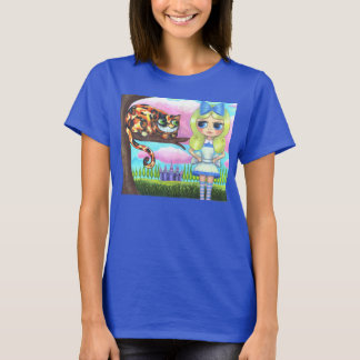 Cheshire-Katze in einer Baum-Alicen im Wunderland T-Shirt
