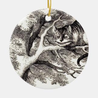 Cheshire-Katze Keramik Ornament