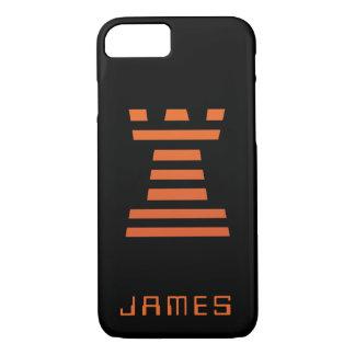 ChessME iPhone addieren schwarze Namensorange iPhone 7 Hülle