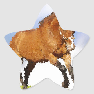 Cheval espiègle sticker étoile