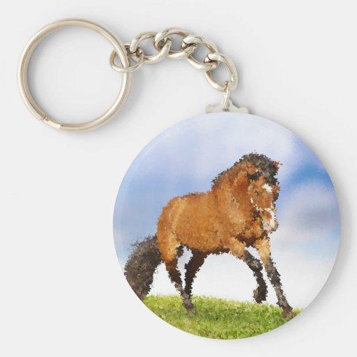 Cheval espiègle porte-clefs