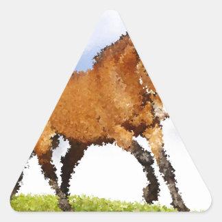 Cheval espiègle sticker triangulaire