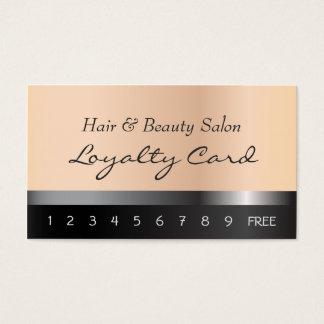 Cheveux et carte de fidélité de salon de beauté