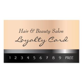 Cheveux et carte de fidélité de salon de beauté carte de visite standard