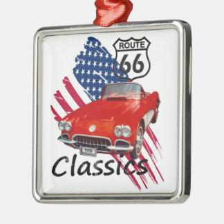 Chevrolet Corvette Classics Quadratisches Silberfarbenes Ornament