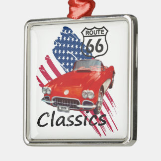 Chevrolet Corvette Classics Silbernes Ornament
