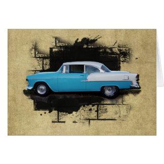Chevy Bel Luft klassische Auto-Karte 1955 Karte