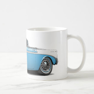 Chevy Belair lt 1956 Blau-Weiß Convertible Kaffeetasse