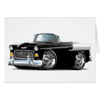 Chevy Belair Schwarz-weißes Kabriolett 1955 Karte