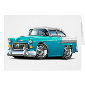 Chevy Belair Türkis-Weißes Auto 1955 Karte