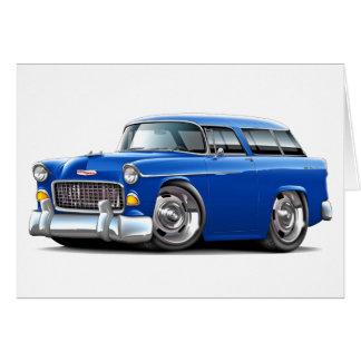 Chevy Nomade-Blau-Auto 1955 Karte