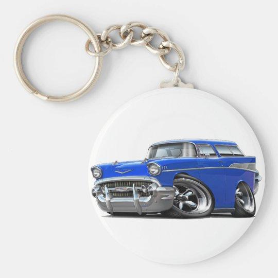 Chevy Nomade-Blau-frisiertes Auto 1957 Schlüsselanhänger