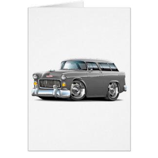 Chevy Nomade-Grau-Auto 1955 Karte