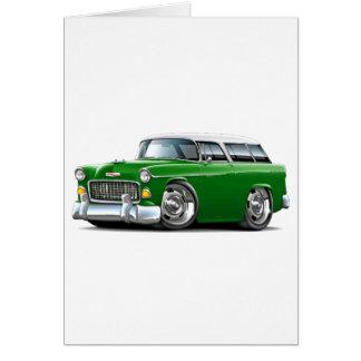 Chevy Nomade-Grün-Weißes Auto 1955 Karte