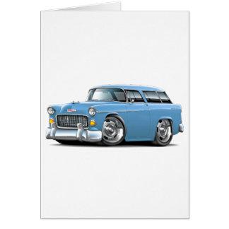 Chevy Nomade-lt 1955 Blue Car Karte